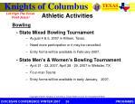 athletic activities