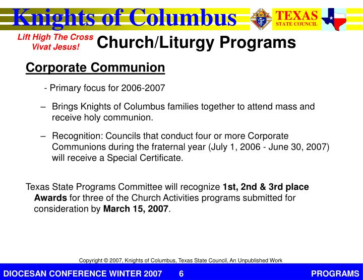 Corporate Communion
