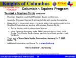 columbian squires program2