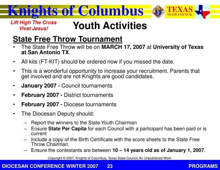 State Free Throw Tournament