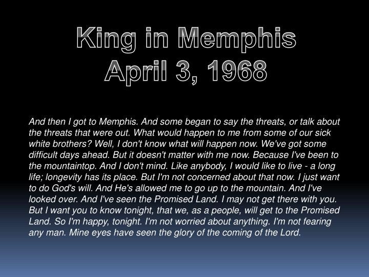 King in Memphis