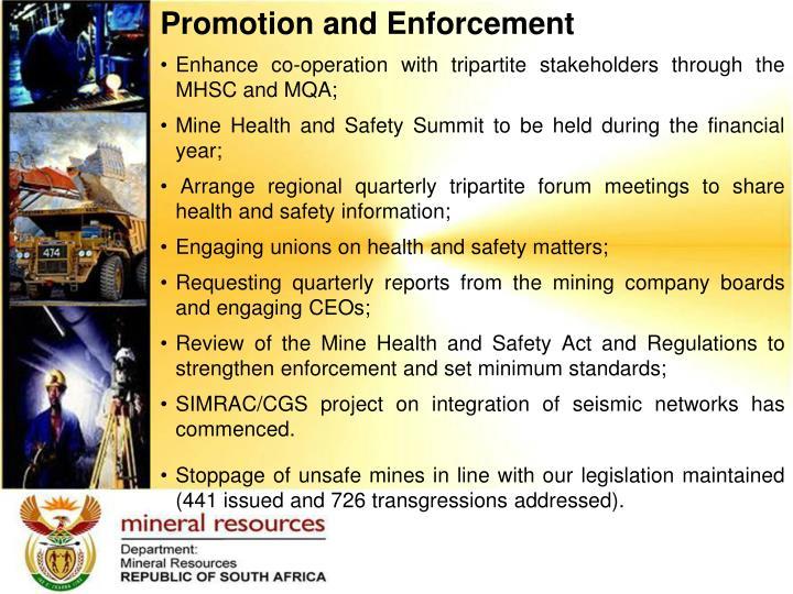 Promotion and Enforcement