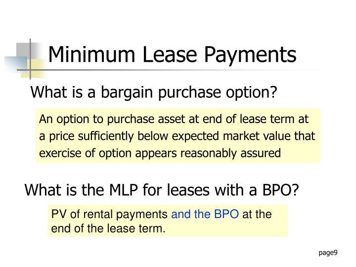 Minimum Lease Payments