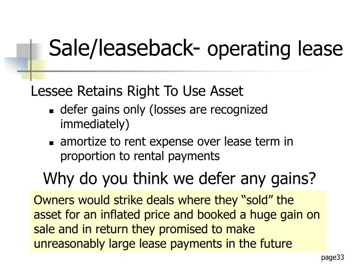 Lessee Retains Right To Use Asset
