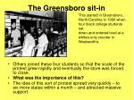 the greensboro sit in