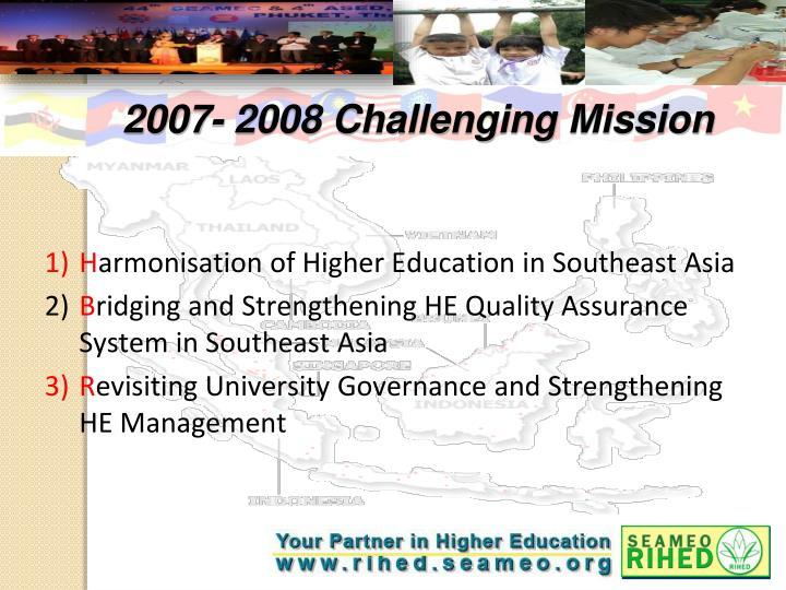2007- 2008 Challenging Mission