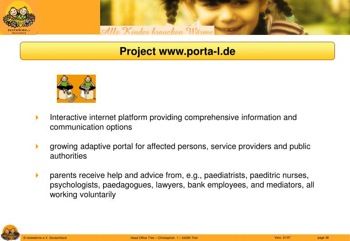 Project www.porta-l.de