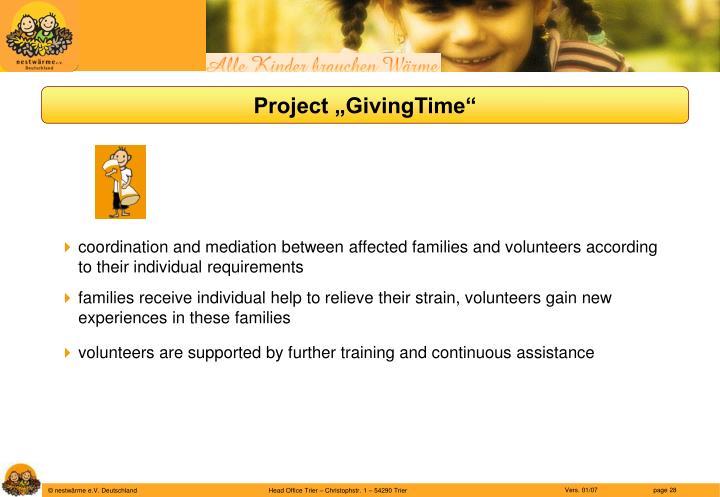 "Project ""GivingTime"""