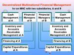 decentralized multinational financial management