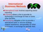 international business methods