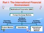 part i the international financial environment