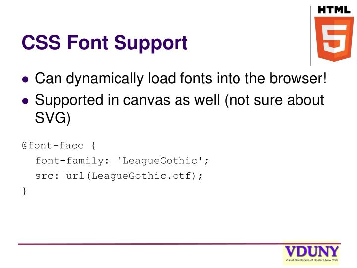 CSS Font Support