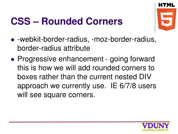 CSS – Rounded Corners