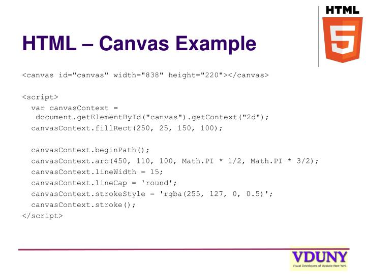 HTML – Canvas Example