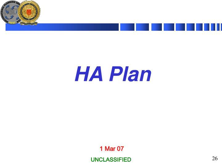 HA Plan