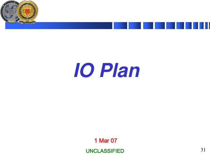 IO Plan