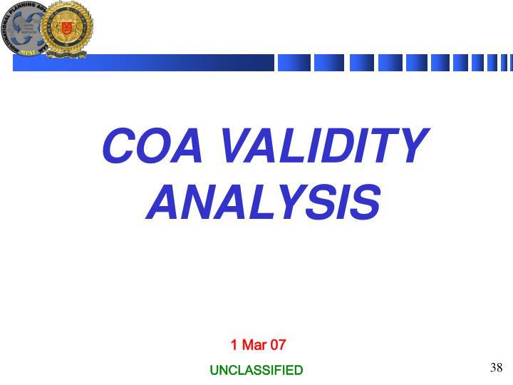 COA VALIDITY ANALYSIS