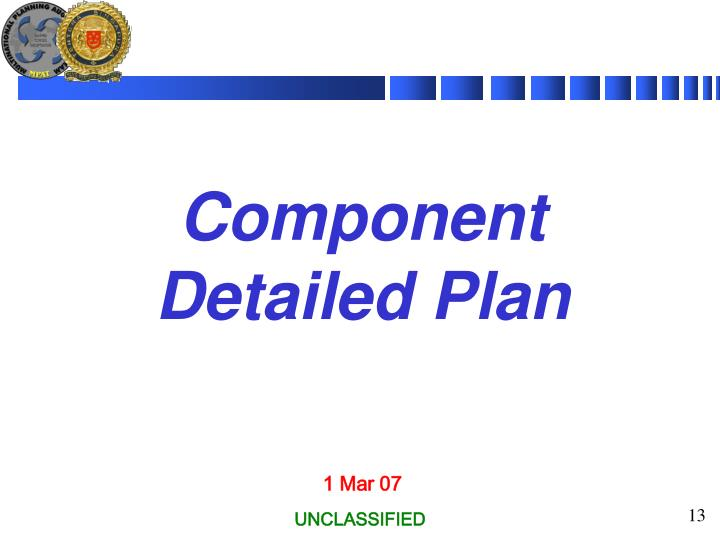 Component Detailed Plan