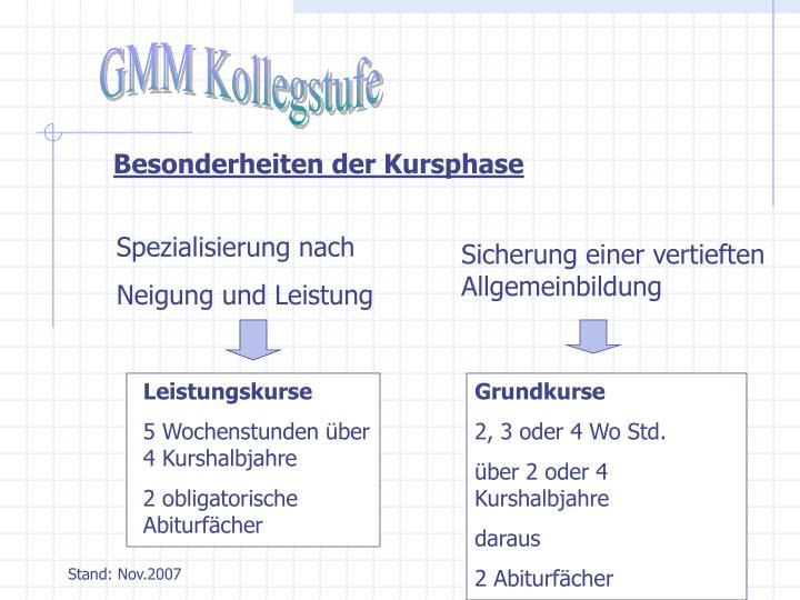 GMM Kollegstufe