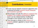 contributions inversion