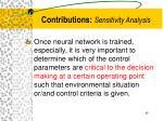 contributions sensitivity analysis