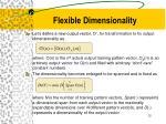 flexible dimensionality1