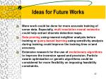 ideas for future works