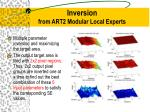 inversion from art2 modular local experts