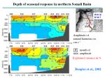 depth of seasonal response in northern somali basin