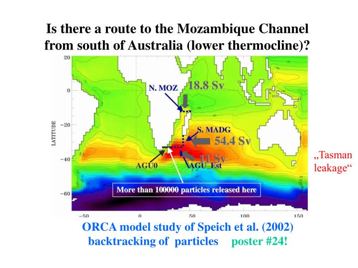Is there a route to the Mozambique Channel