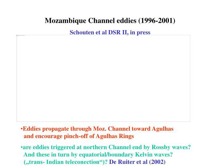Mozambique Channel eddies (1996-2001)