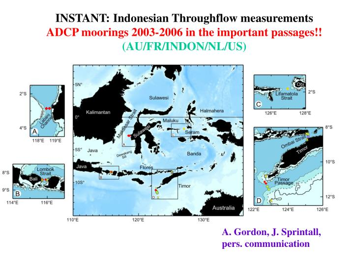 INSTANT: Indonesian Throughflow measurements