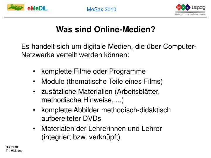 Was sind Online-Medien?