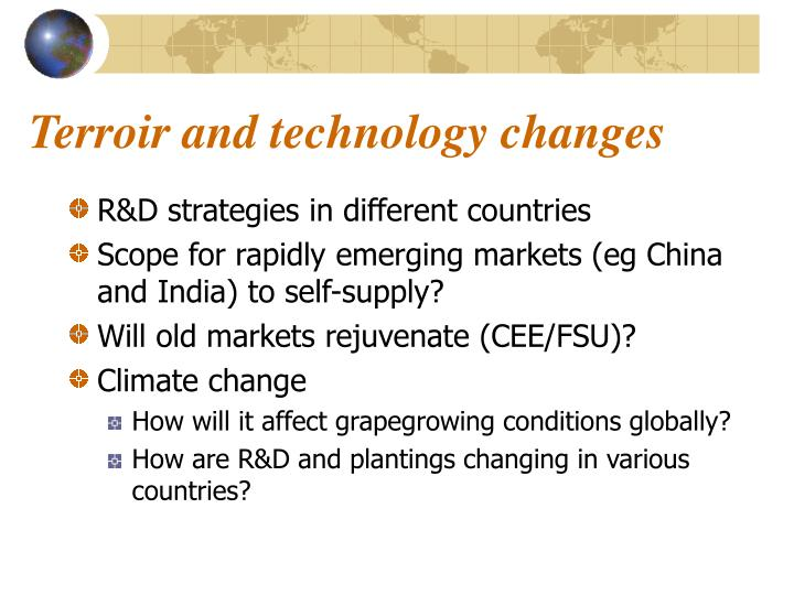 Terroir and technology changes