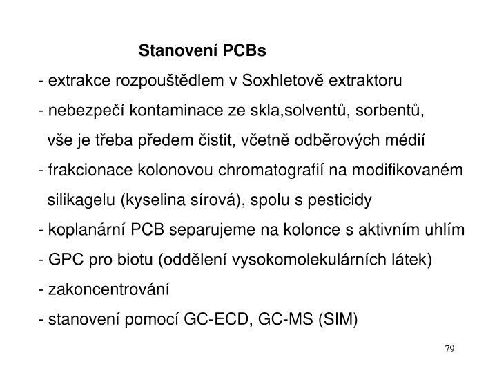 Stanovení PCBs