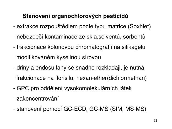 Stanovení organochlorových pesticidů
