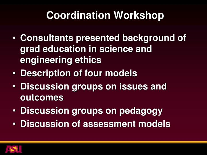 Coordination Workshop