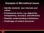examples of microethical issues