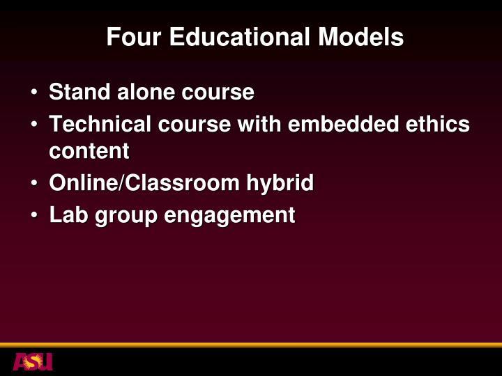 Four Educational Models
