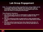 lab group engagement