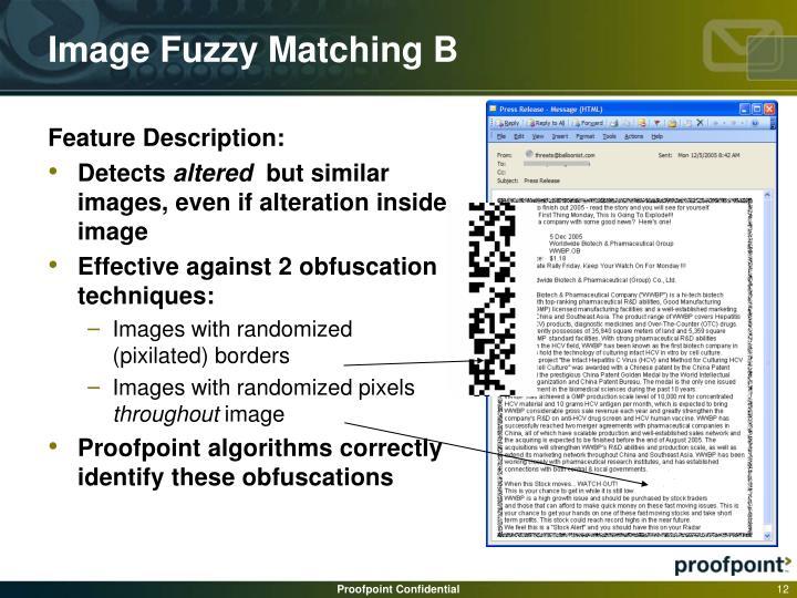 Image Fuzzy Matching B