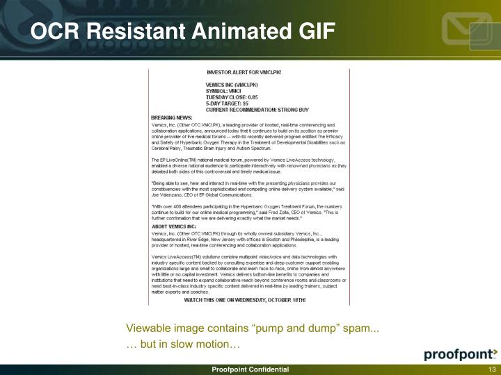 OCR Resistant Animated GIF