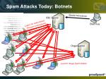 spam attacks today botnets