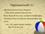 oppimateriaalit 1