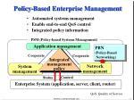 policy based enterprise management