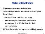 status of find future