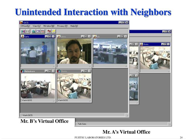 Unintended Interaction with Neighbors