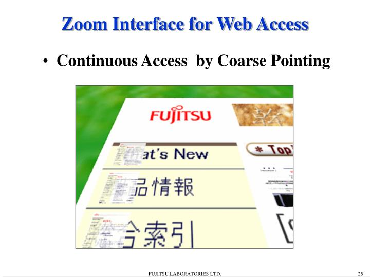 Zoom Interface for Web Access