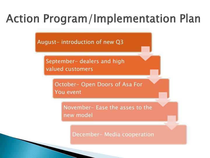 Action Program/Implementation Plan
