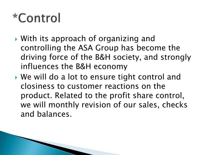 *Control